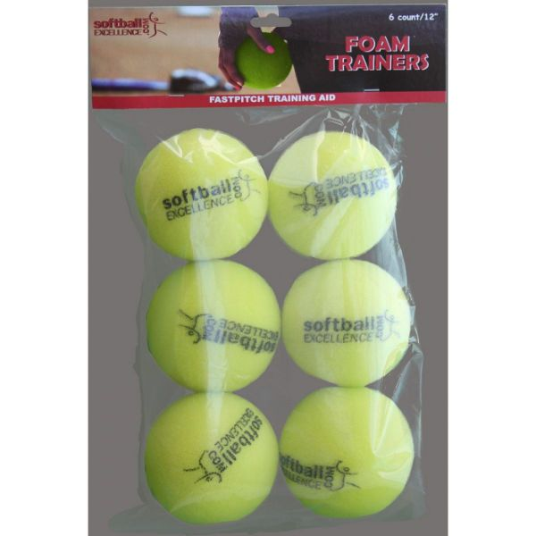 Softball Excellence Foam Trainers (6 Balls per Pack)