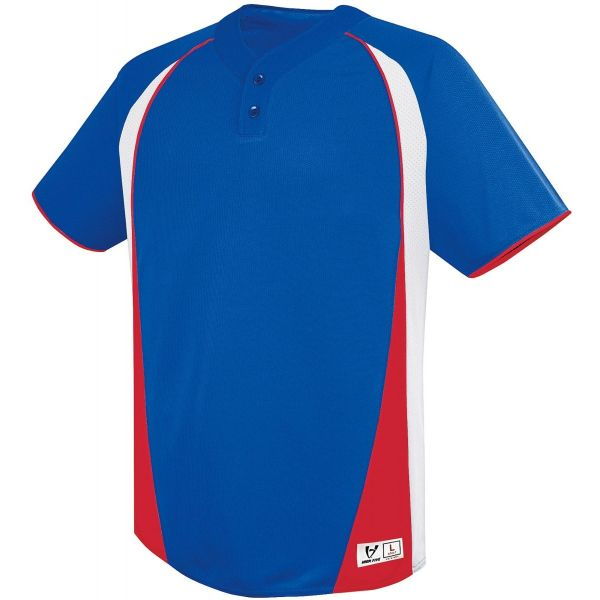 High Five Adult Ace Two-Button Baseball Jersey