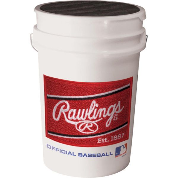 Rawlings White Empty Bucket With Lid
