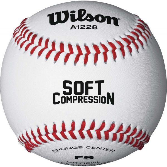 Wilson A1228 Level 5 Soft Compression Baseball (Dozen)