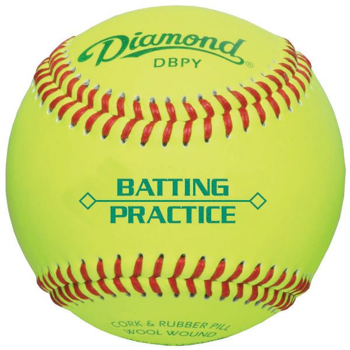 Diamond Sports Yellow Practice Baseballs (Dozen)