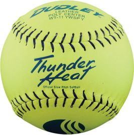 "Dudley 11"" Thunder Heat USSSA Leather Slowpitch Softball"
