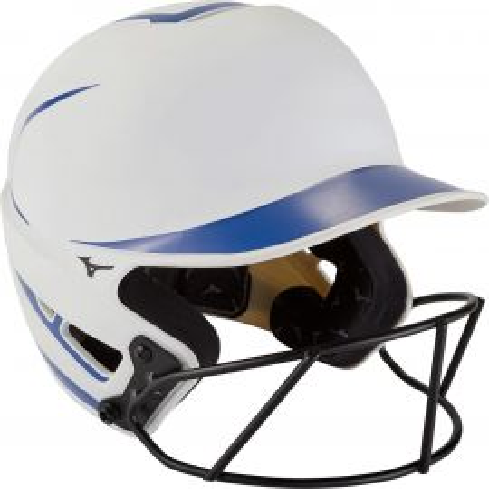 Mizuno F6 Women's Two-Tone Fastpitch Batting Helmet w/ Mask