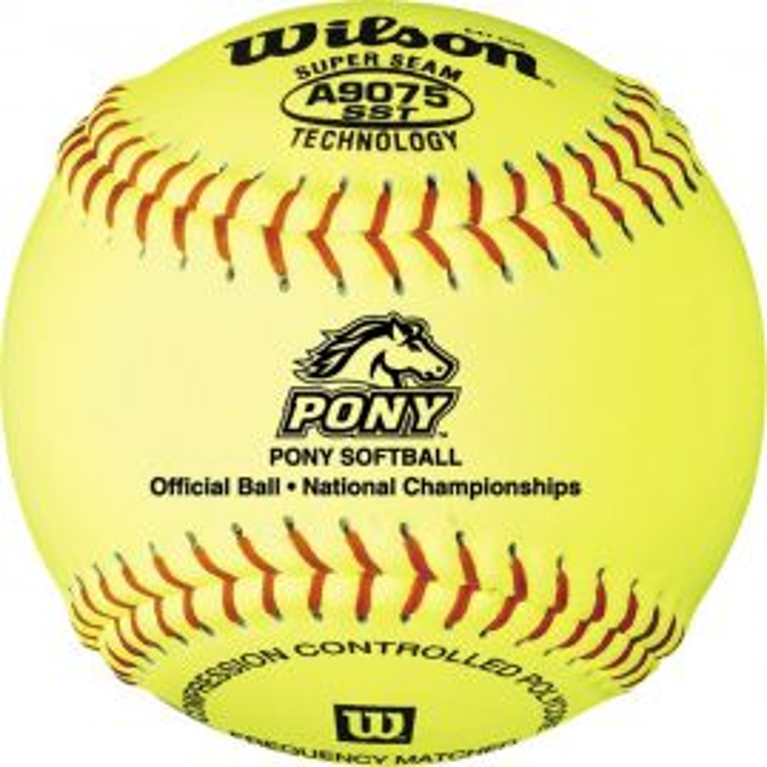 "Wilson 11"" Pony League Fastpitch Softball (Dozen)"