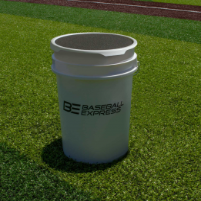 Baseball Express Empty Ball Bucket with Padded Lid