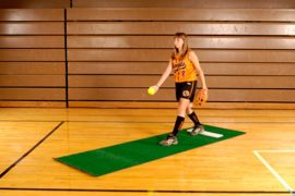 Trigon Softball Pitching Mat - No Stride Line