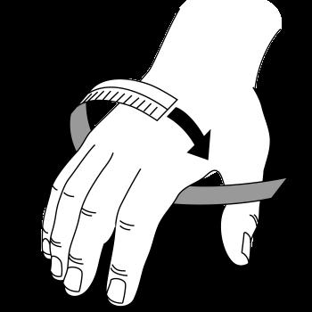 Goalie Glove Around Circumference