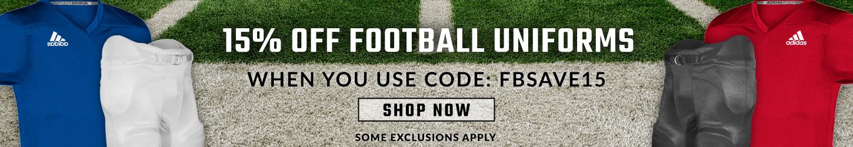 15% Off Football Uniforms